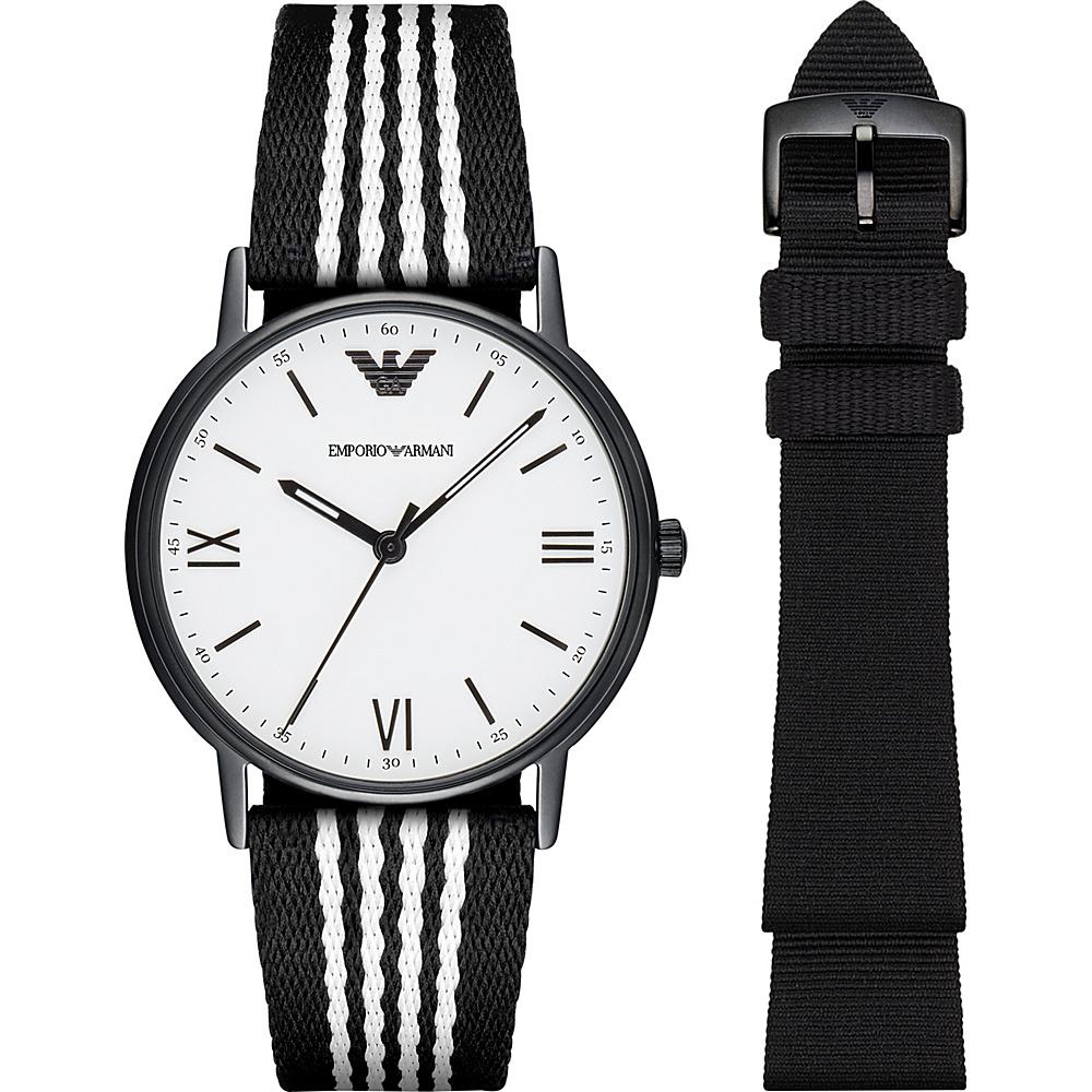 Emporio Armani Dress Watch Gift Set Black - Emporio Armani Watches
