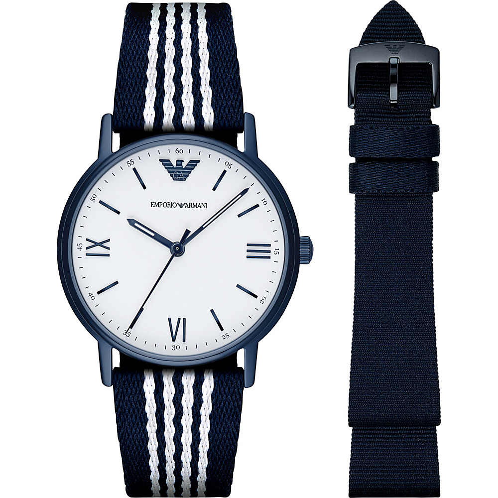 Emporio Armani Dress Watch Gift Set Blue - Emporio Armani Watches