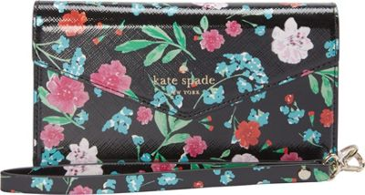 kate spade new york Greenhouse Envelope Wristlet iPhone 7 Case Black Multi - kate spade new york Electronic Cases