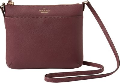kate spade new york Cameron Street Tenley Crossbody Deep Plum - kate spade new york Designer Handbags