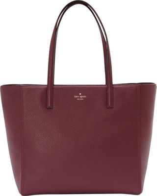 kate spade new york Hopkins Street Hallie Tote Plum - kate spade new york Designer Handbags