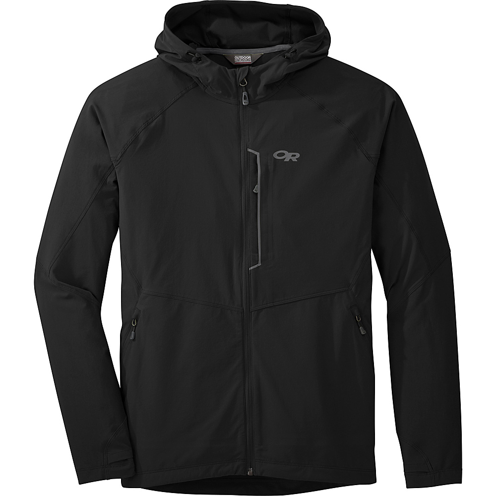 Outdoor Research Mens Ferrosi Hooded Jacket L - Black - Outdoor Research Mens Apparel - Apparel & Footwear, Men's Apparel