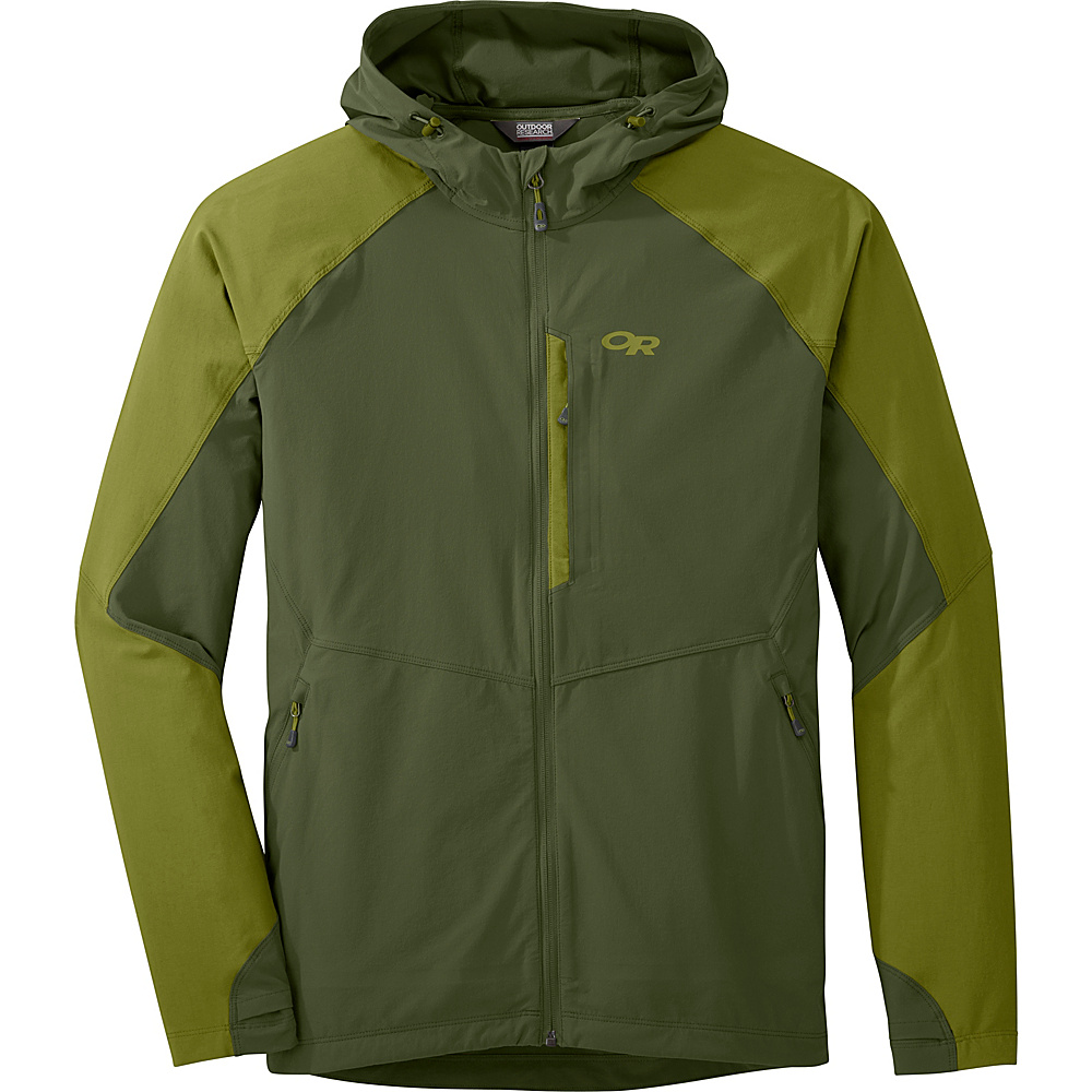 Outdoor Research Mens Ferrosi Hooded Jacket L - Kale/Hops - Outdoor Research Mens Apparel - Apparel & Footwear, Men's Apparel