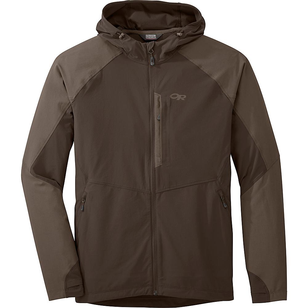 Outdoor Research Mens Ferrosi Hooded Jacket S - Mushroom/Walnut - Outdoor Research Mens Apparel - Apparel & Footwear, Men's Apparel