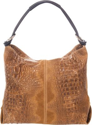 Giulia Massari Top Handle Shoulder Bag Cognac Winter - Giulia Massari Leather Handbags