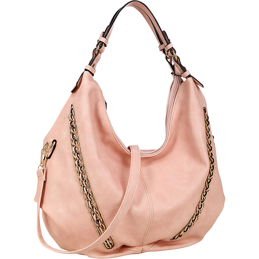 Dasein Faux Leather Hobo Bag Pink - Dasein Manmade Handbags - Handbags, Manmade Handbags