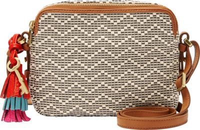 Fossil Piper Toaster Bag Neutral Stripe - Fossil Fabric Handbags