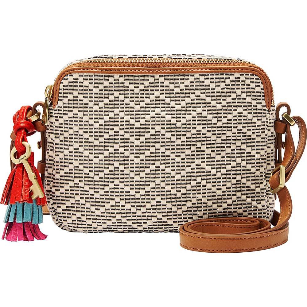 Fossil Piper Toaster Bag Neutral Stripe - Fossil Fabric Handbags - Handbags, Fabric Handbags
