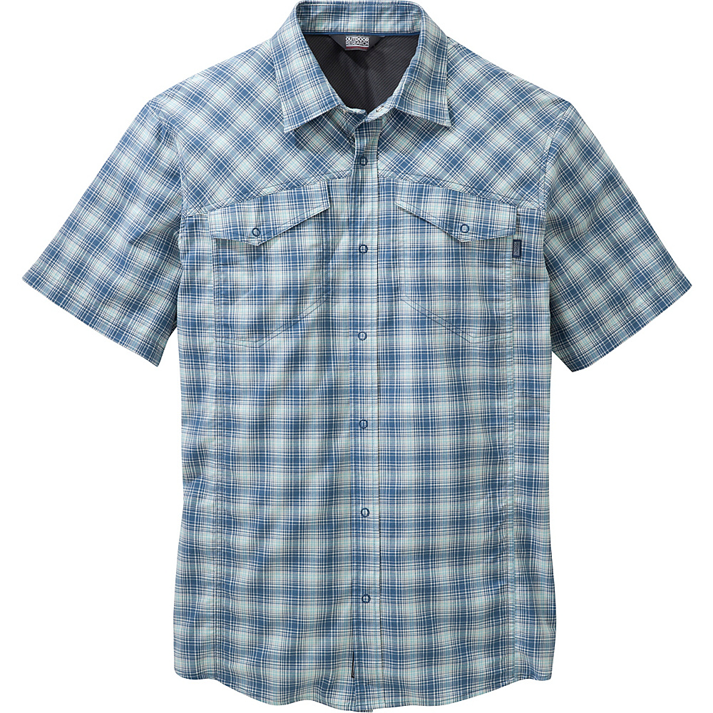 Outdoor Research Mens Pagosa Shirt M - Ice - Outdoor Research Mens Apparel - Apparel & Footwear, Men's Apparel