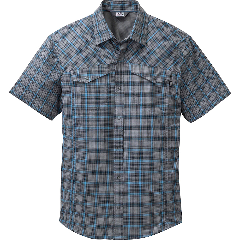 Outdoor Research Mens Pagosa Shirt S - Pewter - Outdoor Research Mens Apparel - Apparel & Footwear, Men's Apparel
