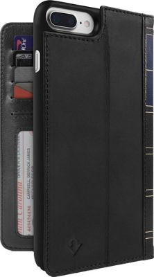 Twelve South BookBook Leather Wallet for iPhone 7 Plus Black - Twelve South Electronic Cases