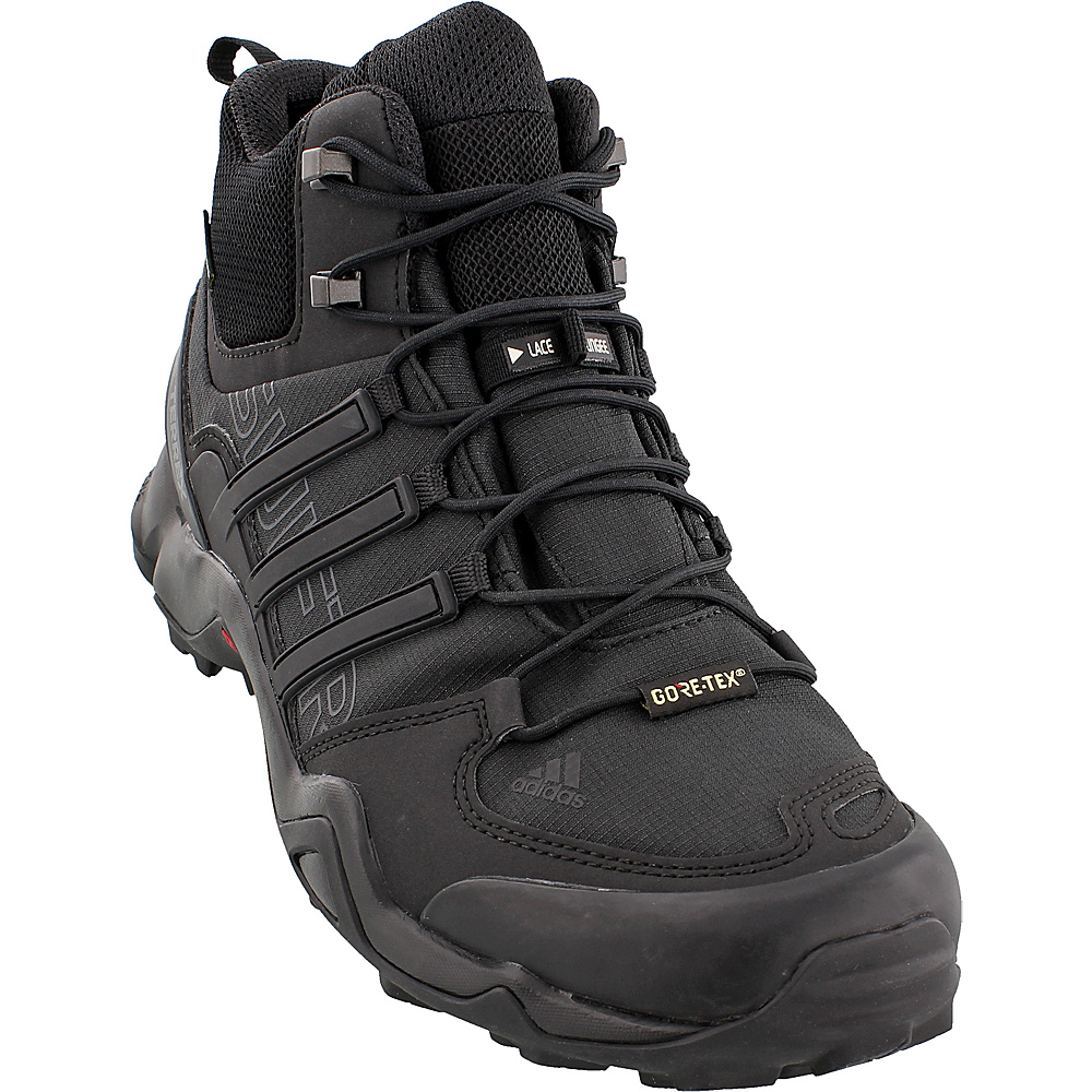 adidas outdoor Mens Terrex Swift R Mid GTX Shoe 7.5 - Black/Black/Dark Grey - adidas outdoor Mens Footwear - Apparel & Footwear, Men's Footwear