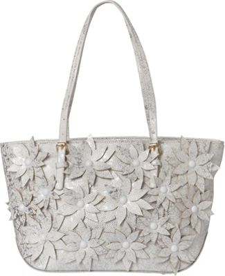 Sondra Roberts Pastel Wash Shopper White - Sondra Roberts Manmade Handbags