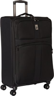 London Fog Wellington 360 Ultra-Lightweight 25 inch Expandable 8-Wheel Spinner Black - London Fog Large Rolling Luggage