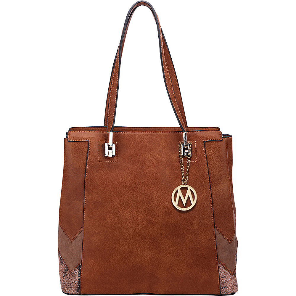 MKF Collection by Mia K. Farrow Katherine Tote Brown - MKF Collection by Mia K. Farrow Manmade Handbags - Handbags, Manmade Handbags