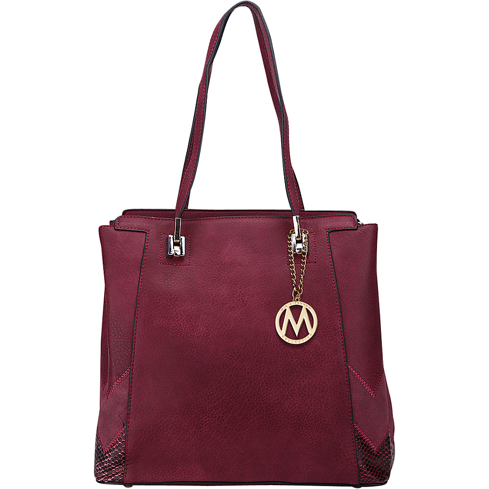 MKF Collection by Mia K. Farrow Katherine Tote Burgundy - MKF Collection by Mia K. Farrow Manmade Handbags - Handbags, Manmade Handbags