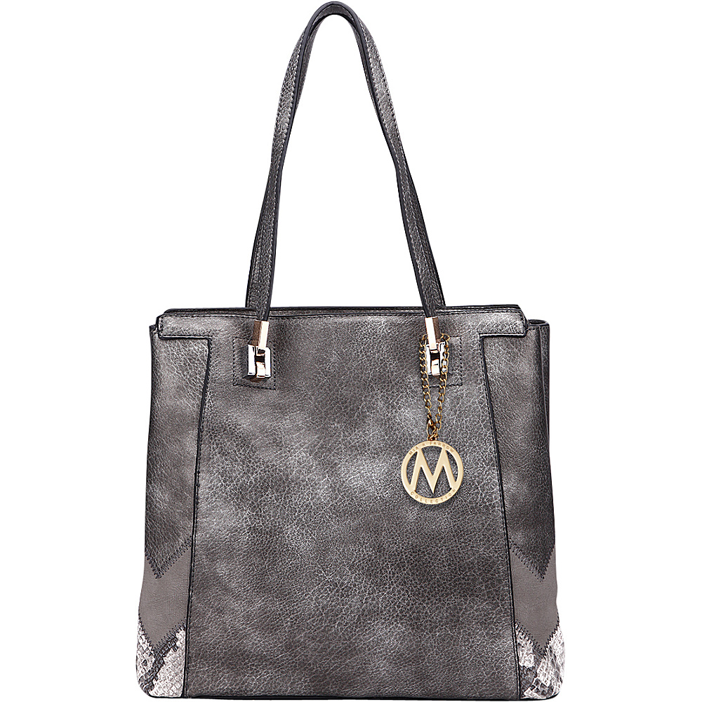 MKF Collection by Mia K. Farrow Katherine Tote Pewter - MKF Collection by Mia K. Farrow Manmade Handbags - Handbags, Manmade Handbags