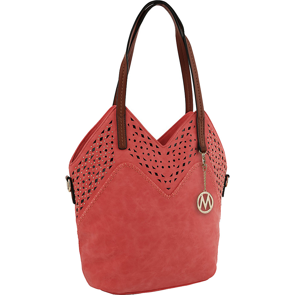 MKF Collection by Mia K. Farrow V Tote Pink - MKF Collection by Mia K. Farrow Manmade Handbags - Handbags, Manmade Handbags