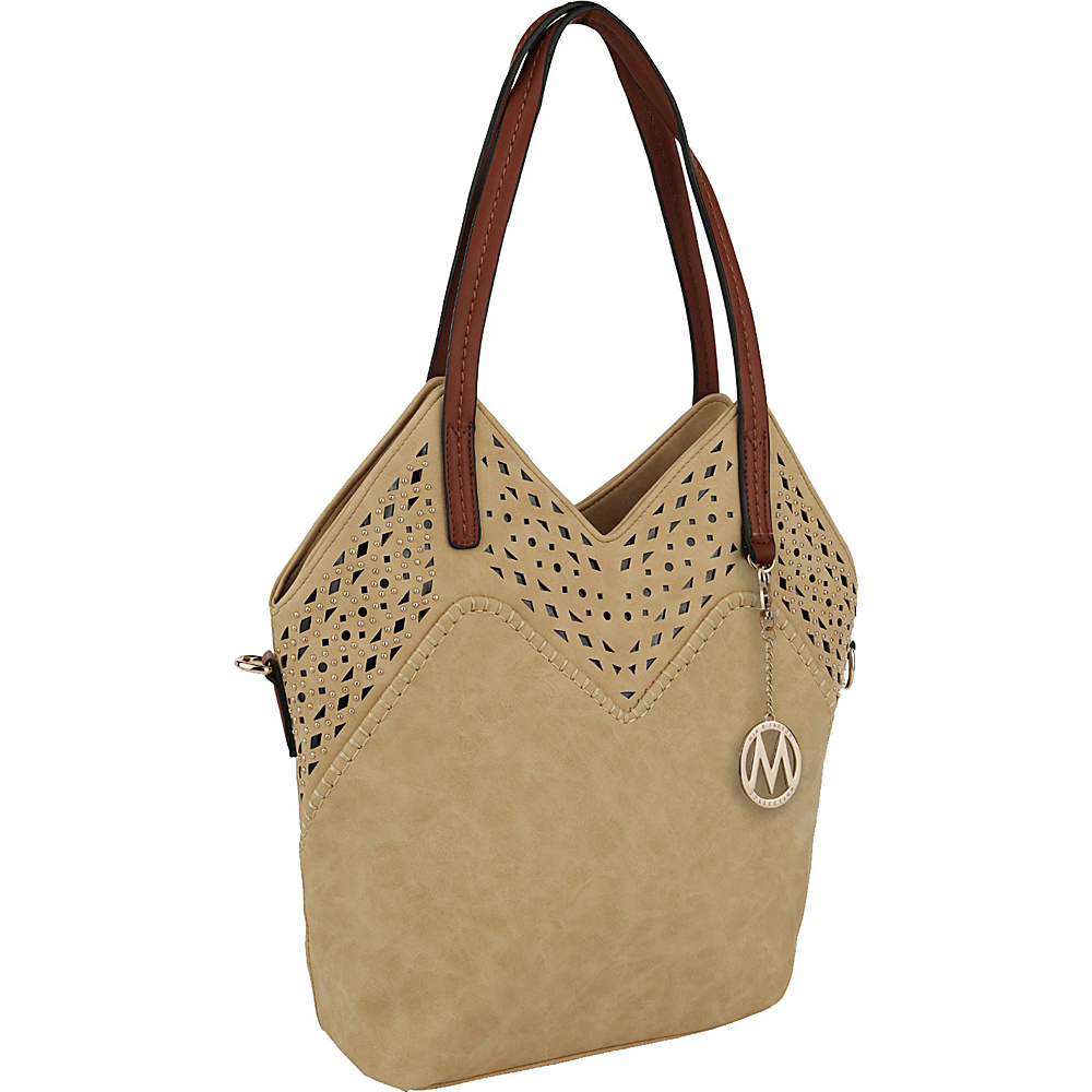 MKF Collection by Mia K. Farrow V Tote Tan - MKF Collection by Mia K. Farrow Manmade Handbags - Handbags, Manmade Handbags
