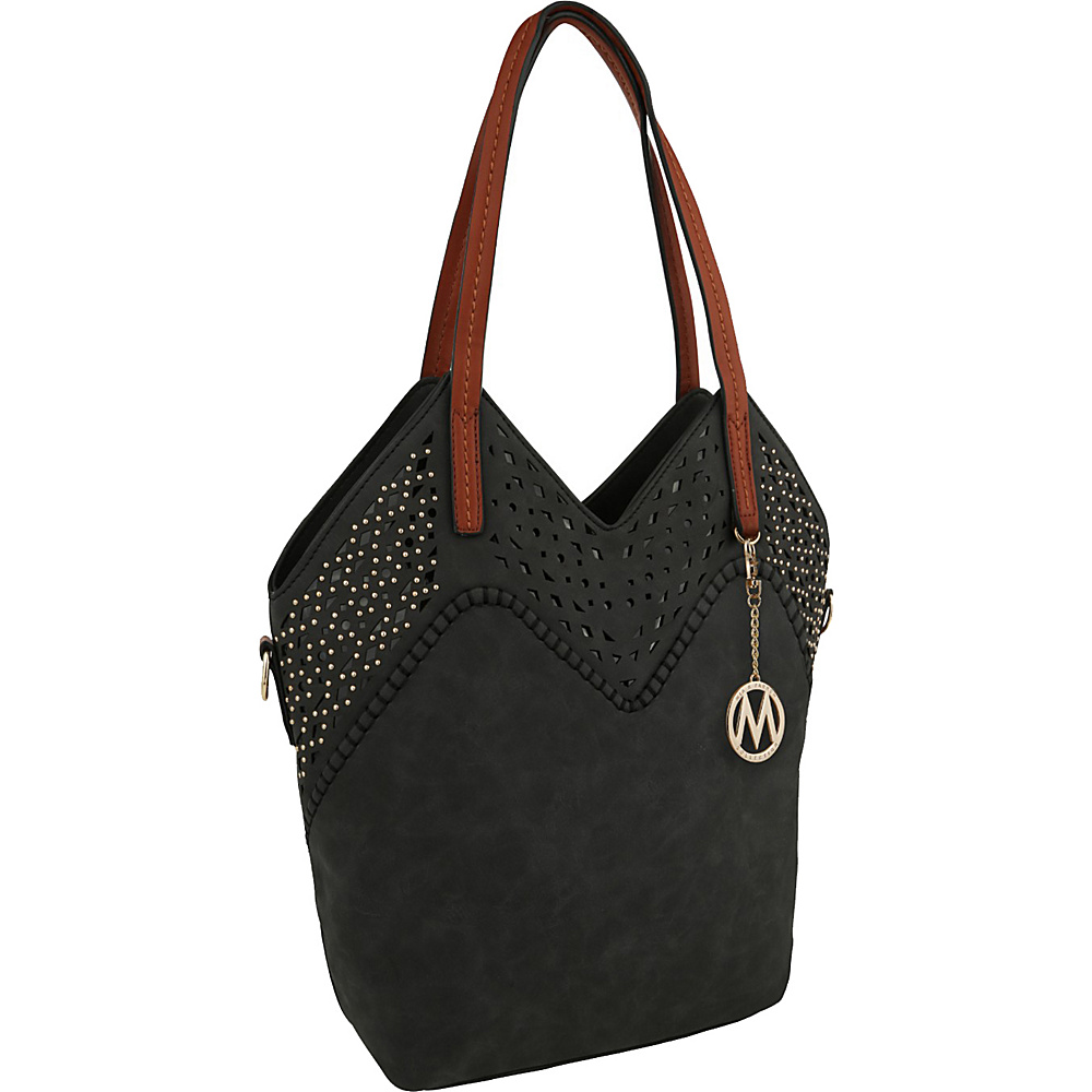 MKF Collection by Mia K. Farrow V Tote Black - MKF Collection by Mia K. Farrow Manmade Handbags - Handbags, Manmade Handbags