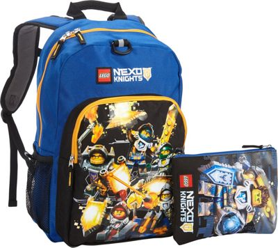 LEGO Nexo Knights Eco Heritage Classic Backpack & Clay Eco Pouch Blue - LEGO School & Day Hiking Backpacks