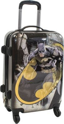 DC Comics Batman 21 Inch Spinner Rolling Carry-On Multi Color - DC Comics Hardside Carry-On