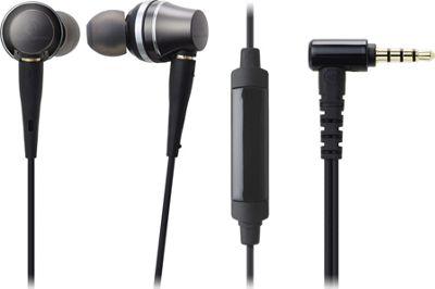 Audio Technica Sound Reality In-Ear High-Resolution 42K Hz Headphones with Mic & Control Black - Audio Technica Headphones & Speakers