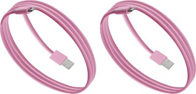 PURTECH Apple MFI Certified Lightning Cable 3.3 Feet Strong Jacket - Sync/Charge - 2PK Matte Pink - PURTECH Electronic Accessories