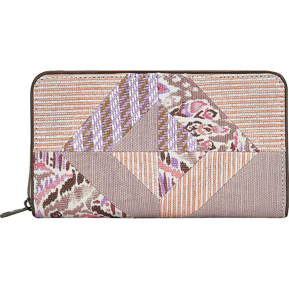 Sakroots Artist Circle Large Zip Around Wallet Fawn Brave Beauti - Sakroots Womens Wallets - Women's SLG, Women's Wallets