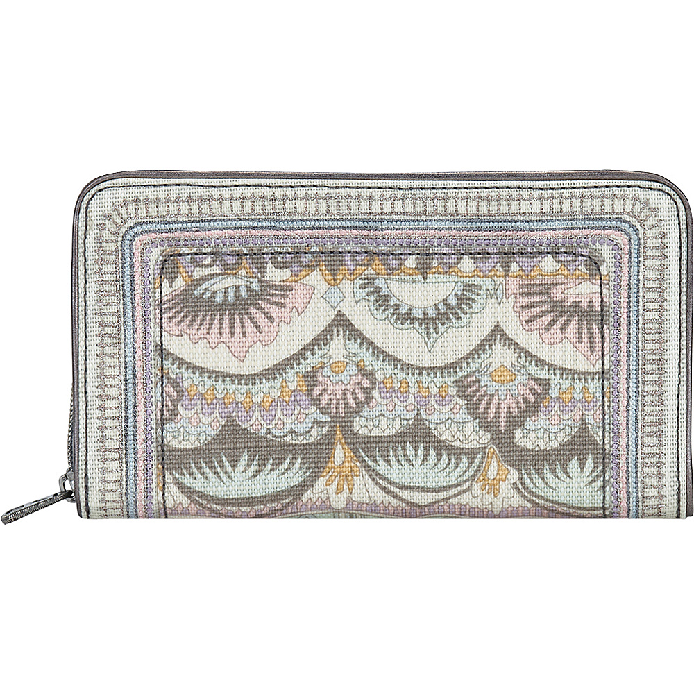 Sakroots Artist Circle Large Zip Around Wallet Pastel One World - Sakroots Womens Wallets - Women's SLG, Women's Wallets