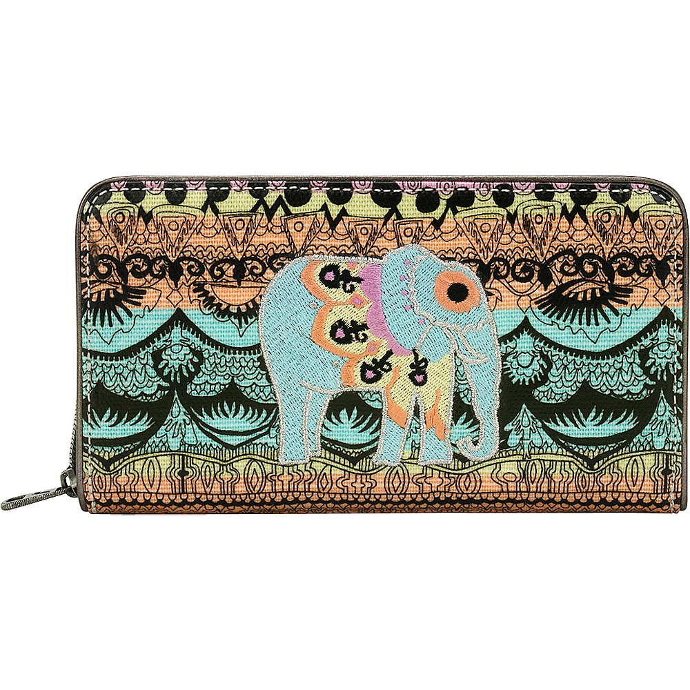 Sakroots Artist Circle Large Zip Around Wallet Sherbet One World - Sakroots Womens Wallets - Women's SLG, Women's Wallets
