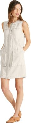 NAU Clothing Womens Flaxbile Sleeveless Dress XL - Bone - NAU Clothing Women's Apparel