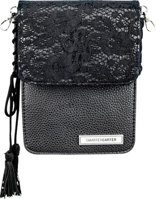 SmarterGarter Moscow 4.0 Hands-Free Purse Black Lace - One Size Fits All