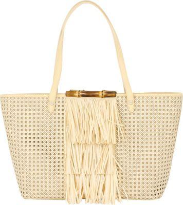 Elaine Turner Nellie Tote Rattan - Elaine Turner Straw Handbags