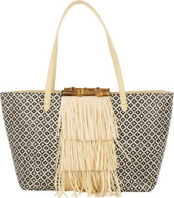Elaine Turner Nellie Tote Tiled Raffia - Elaine Turner Straw Handbags