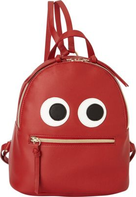 T-shirt & Jeans Monster Backpack Red - T-shirt & Jeans Manmade Handbags