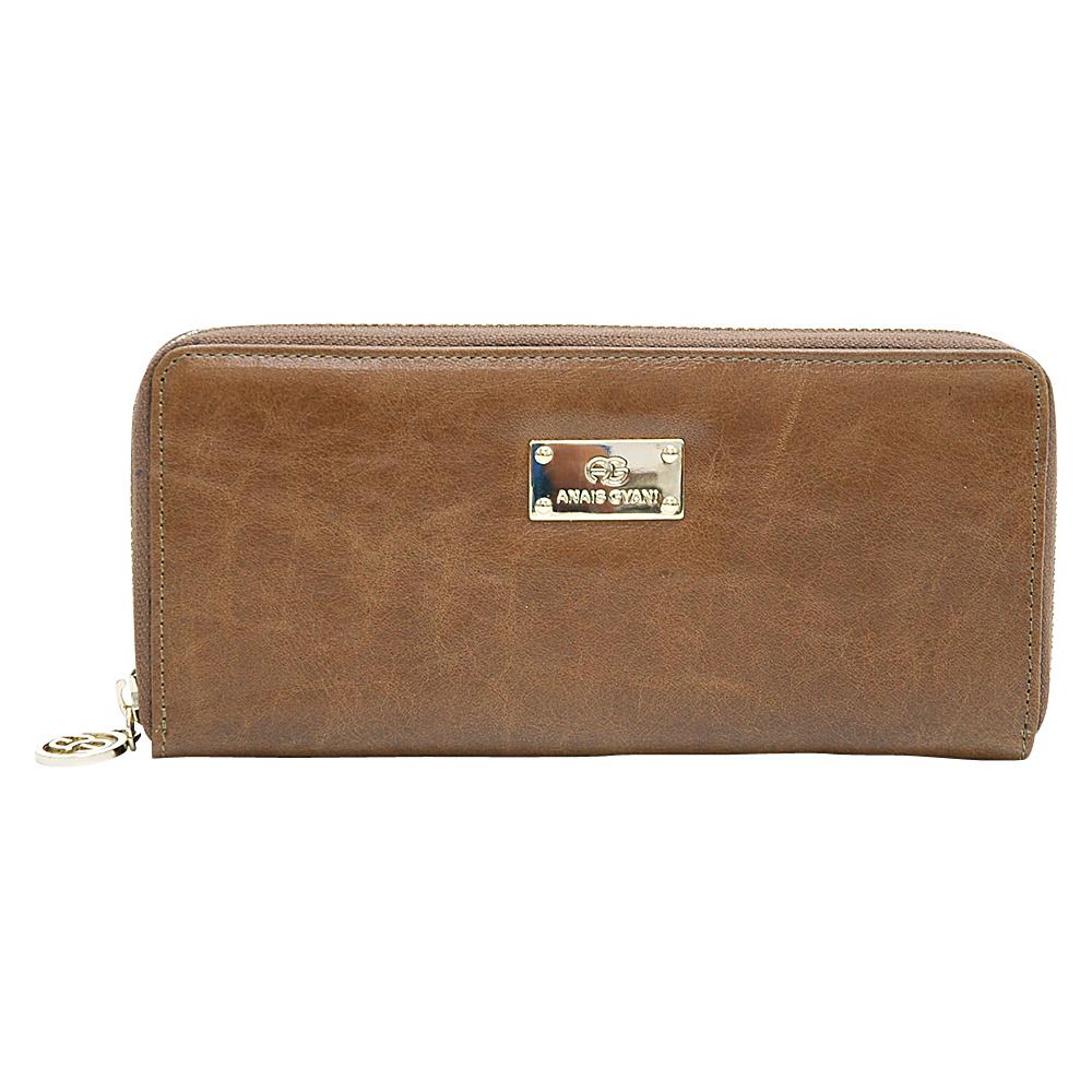 Dasein Womens Zip-Around Wallet with Gold Kissed Accents Brown - Dasein Womens Wallets - Women's SLG, Women's Wallets