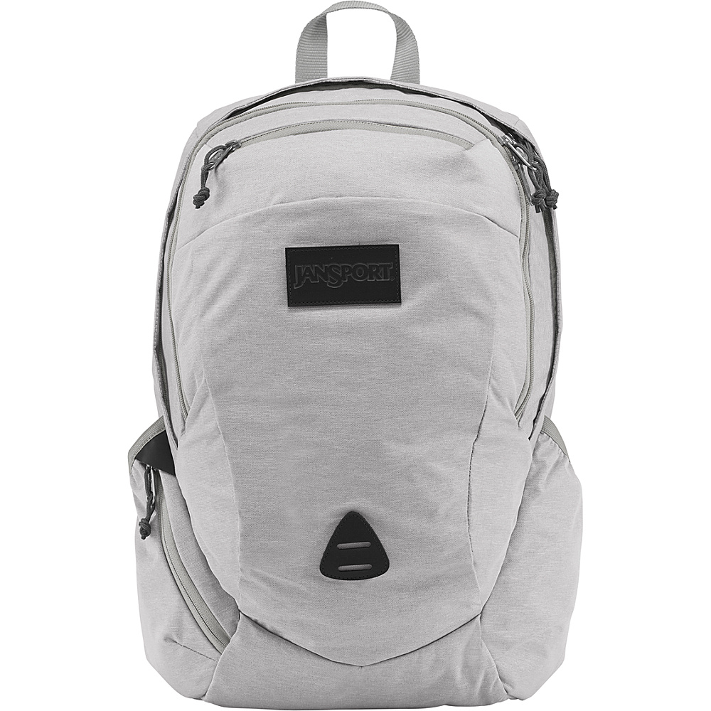 JanSport Wynwood Laptop Backpack Grey Heathered Poly - JanSport Laptop Backpacks