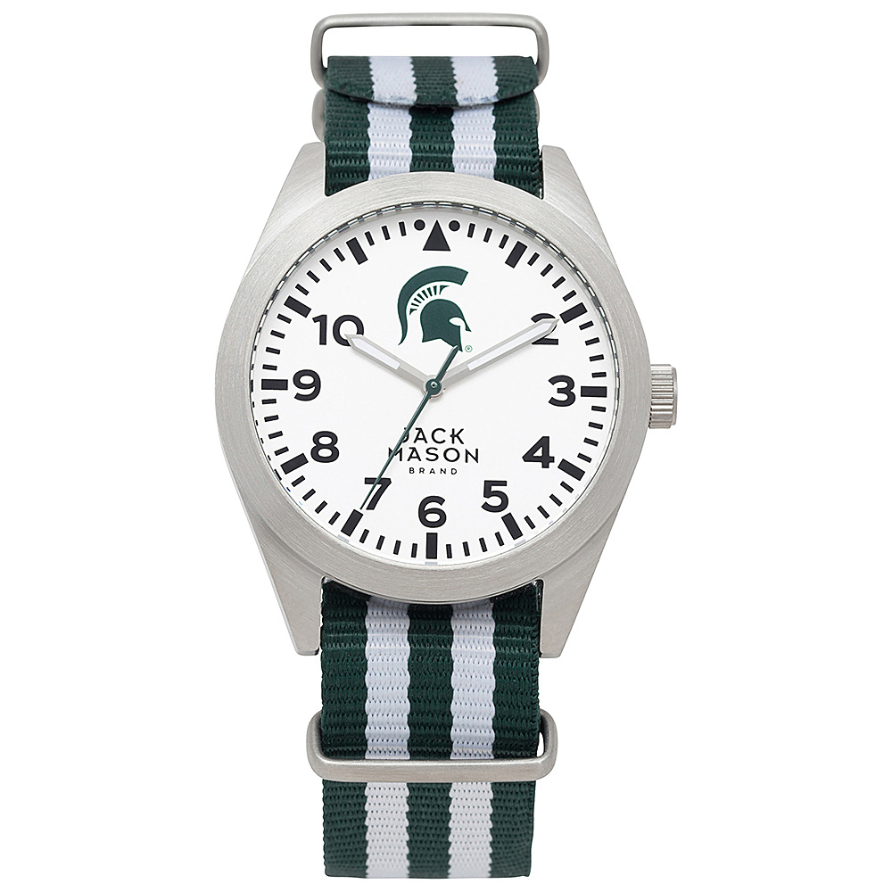 Jack Mason League NCAA Striped Nato Watch Michigan State Spartans - Jack Mason League Watches - Fashion Accessories, Watches