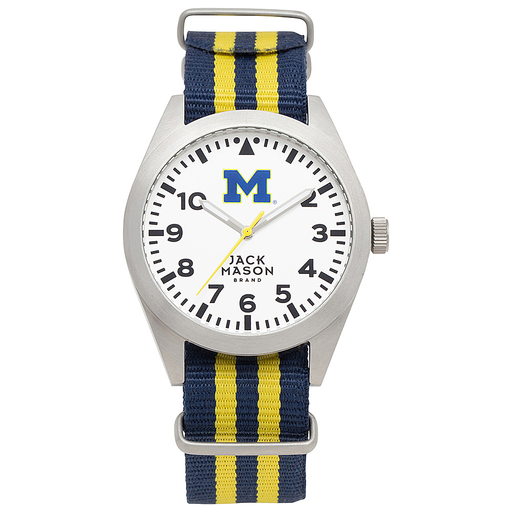 Jack Mason League NCAA Striped Nato Watch Michigan Wolverines - Jack Mason League Watches - Fashion Accessories, Watches