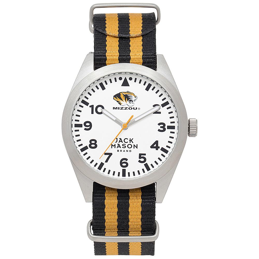 Jack Mason League NCAA Striped Nato Watch Missouri Tigers - Jack Mason League Watches - Fashion Accessories, Watches