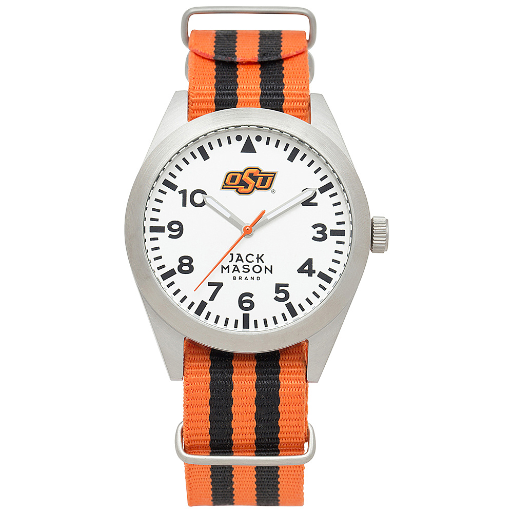 Jack Mason League NCAA Striped Nato Watch Oklahoma State Cowboys - Jack Mason League Watches - Fashion Accessories, Watches