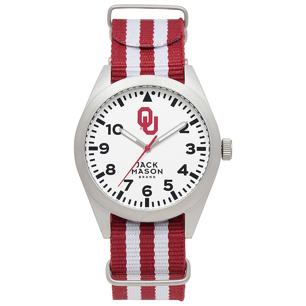 Jack Mason League NCAA Striped Nato Watch Oklahoma Sooners - Jack Mason League Watches - Fashion Accessories, Watches