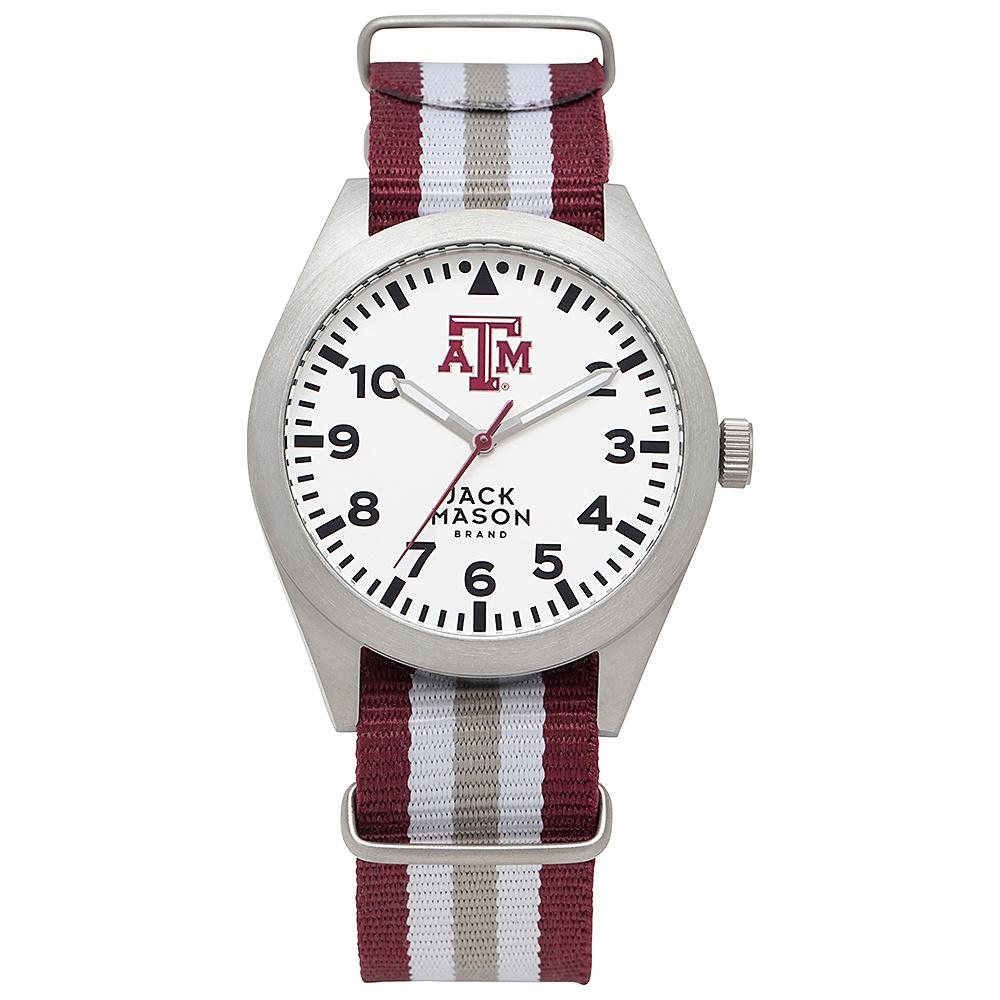 Jack Mason League NCAA Striped Nato Watch Texas A&M Aggies - Jack Mason League Watches - Fashion Accessories, Watches