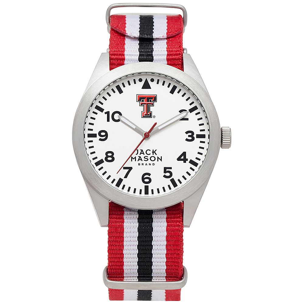 Jack Mason League NCAA Striped Nato Watch Texas Tech Red Raiders - Jack Mason League Watches - Fashion Accessories, Watches