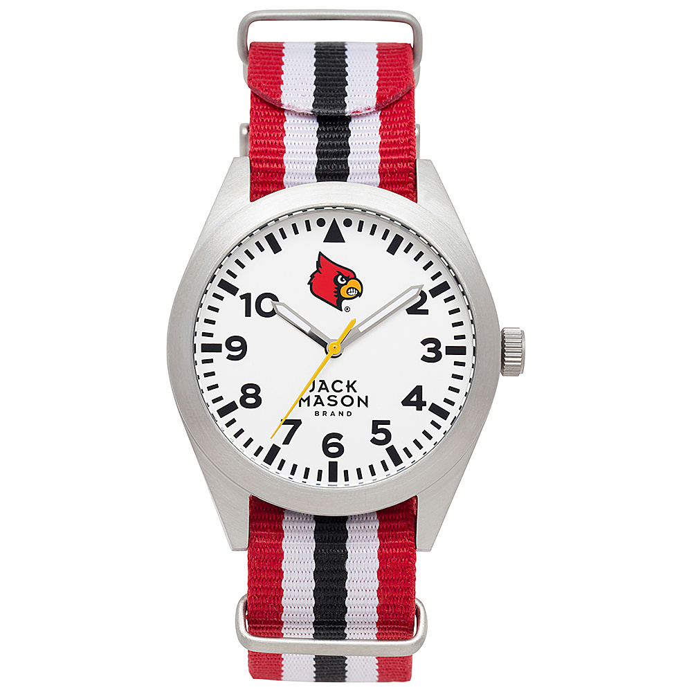 Jack Mason League NCAA Striped Nato Watch Louisville Cardinals - Jack Mason League Watches - Fashion Accessories, Watches