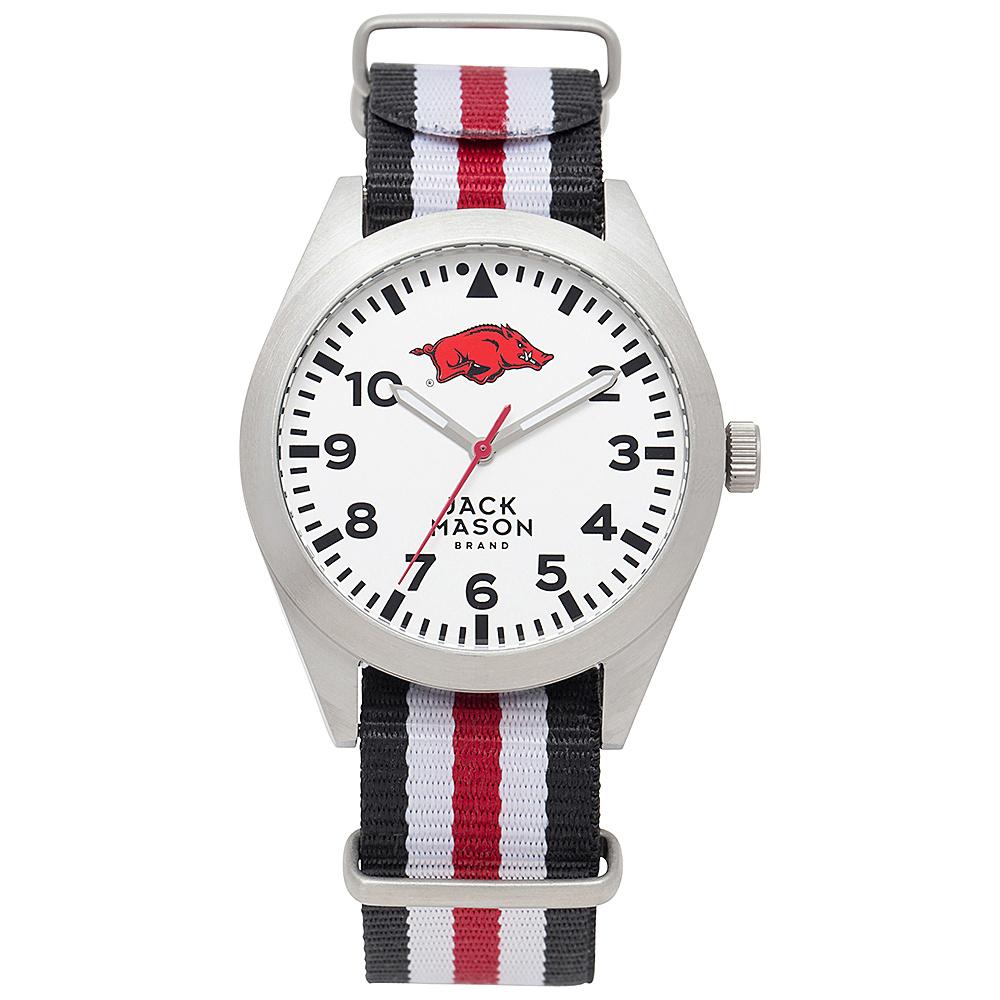 Jack Mason League NCAA Striped Nato Watch Arkansas Razorbacks - Jack Mason League Watches - Fashion Accessories, Watches