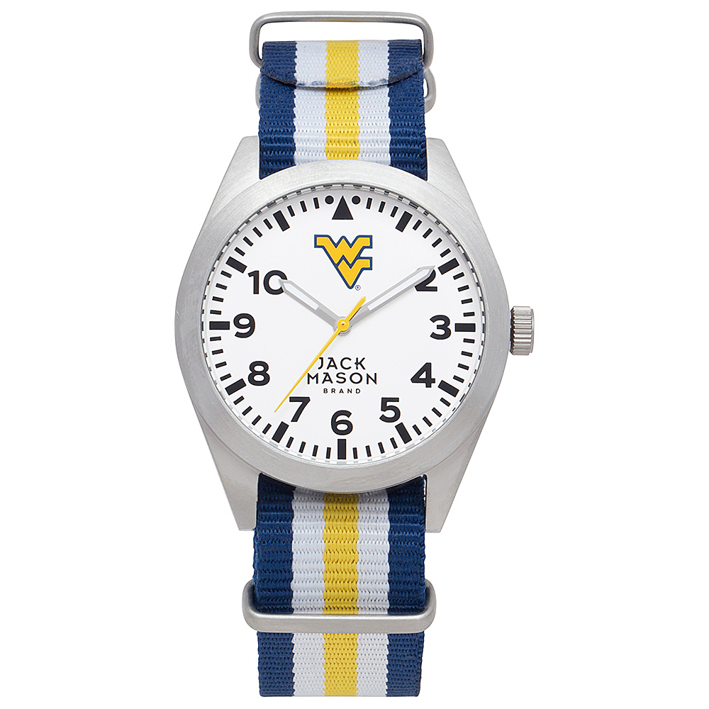 Jack Mason League NCAA Striped Nato Watch West Virginia Mountaineers - Jack Mason League Watches - Fashion Accessories, Watches