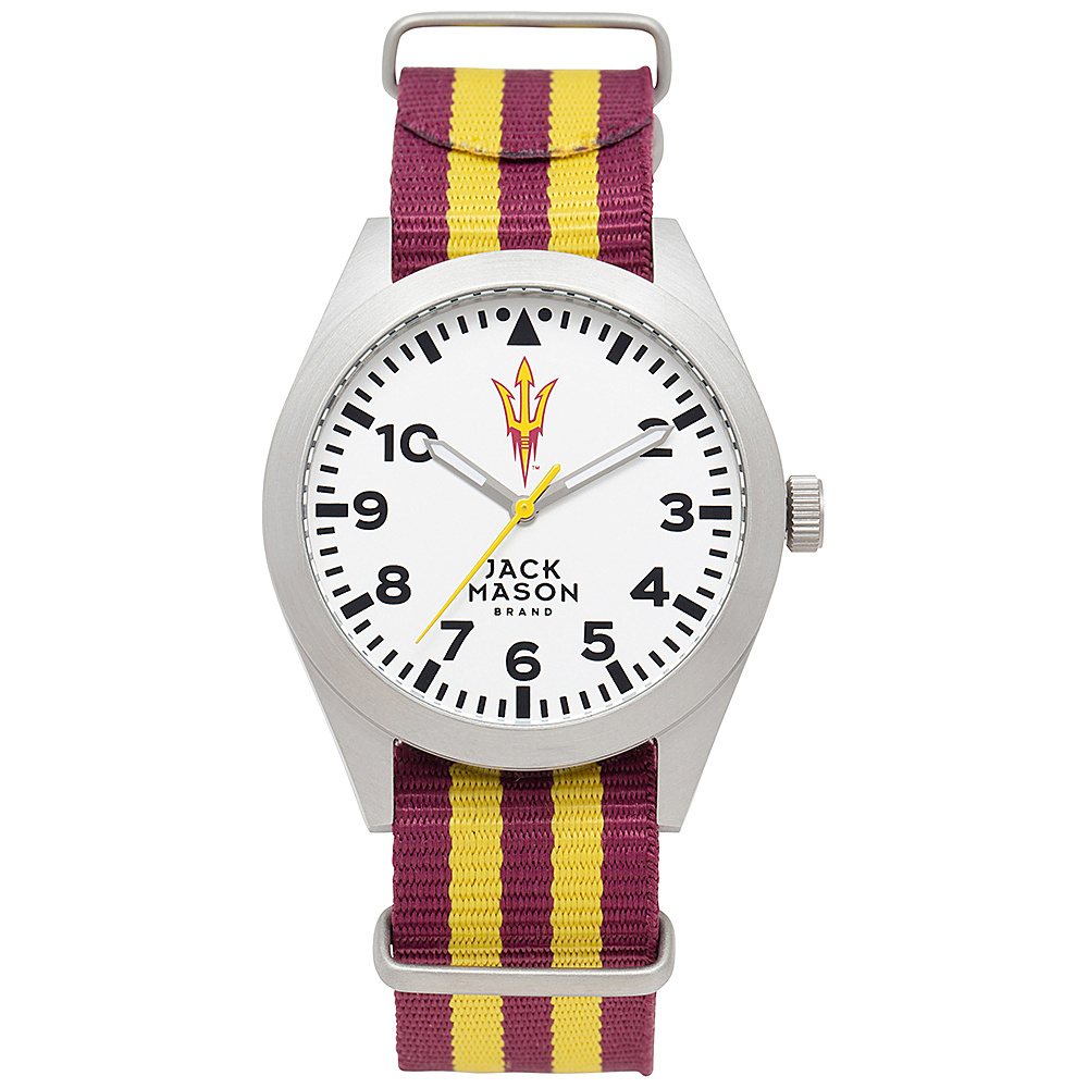 Jack Mason League NCAA Striped Nato Watch Arizona State Sun Devils - Jack Mason League Watches - Fashion Accessories, Watches