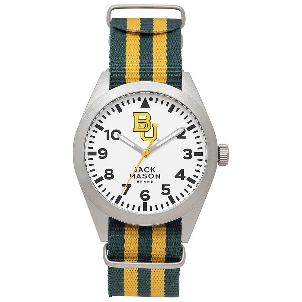 Jack Mason League NCAA Striped Nato Watch Baylor Bears - Jack Mason League Watches - Fashion Accessories, Watches